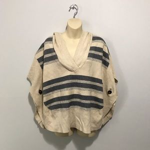 American Eagle Striped Sweater Poncho XS/S